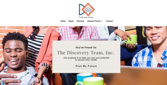 Website for The Discovery Team, Inc.
