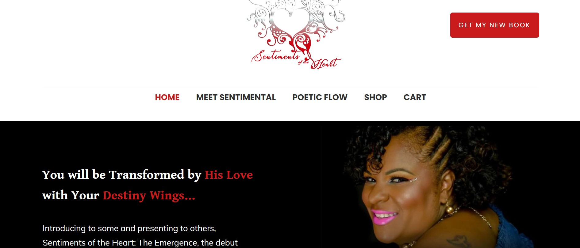 Website for Sentiments of the Heart