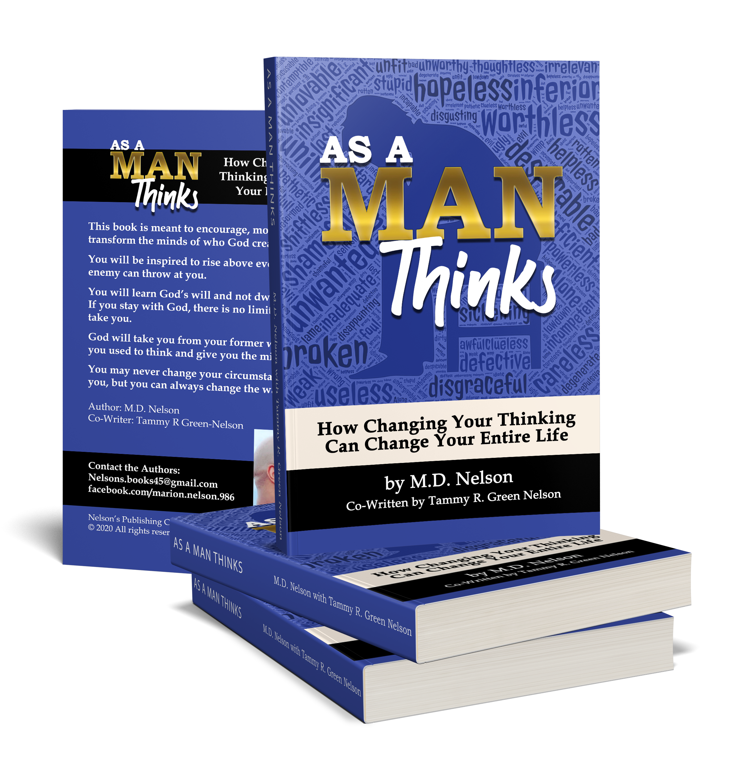 As A Man Thinks Book Mockups