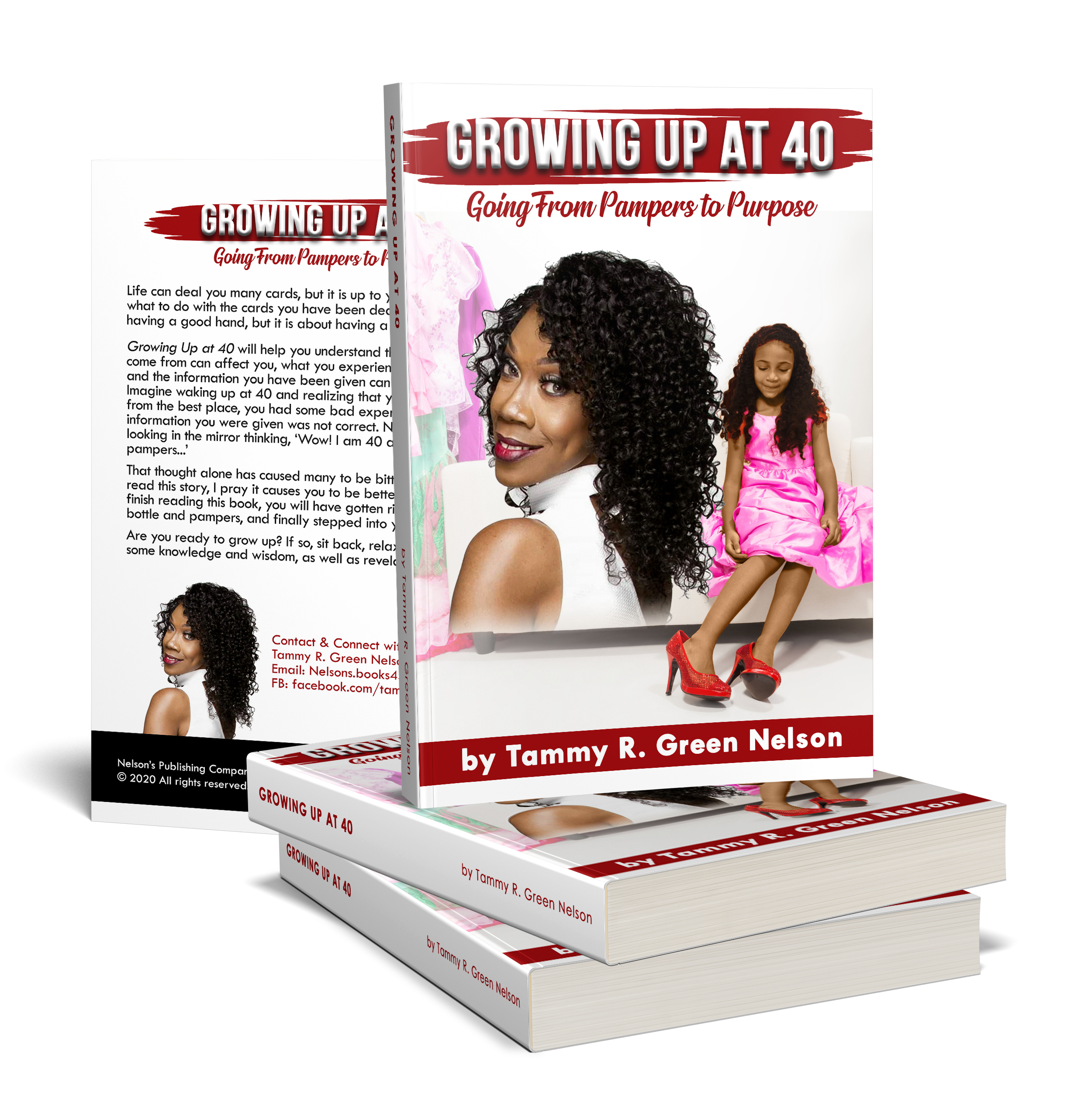 Book Cover - Growing Up at 40 by Tammy Nelson