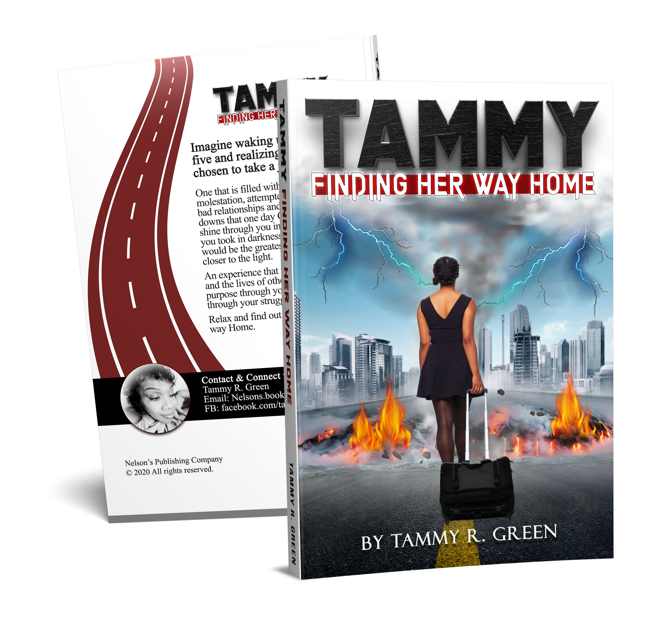 Tammy Finding Her Way Home Book Mockup Front and Back